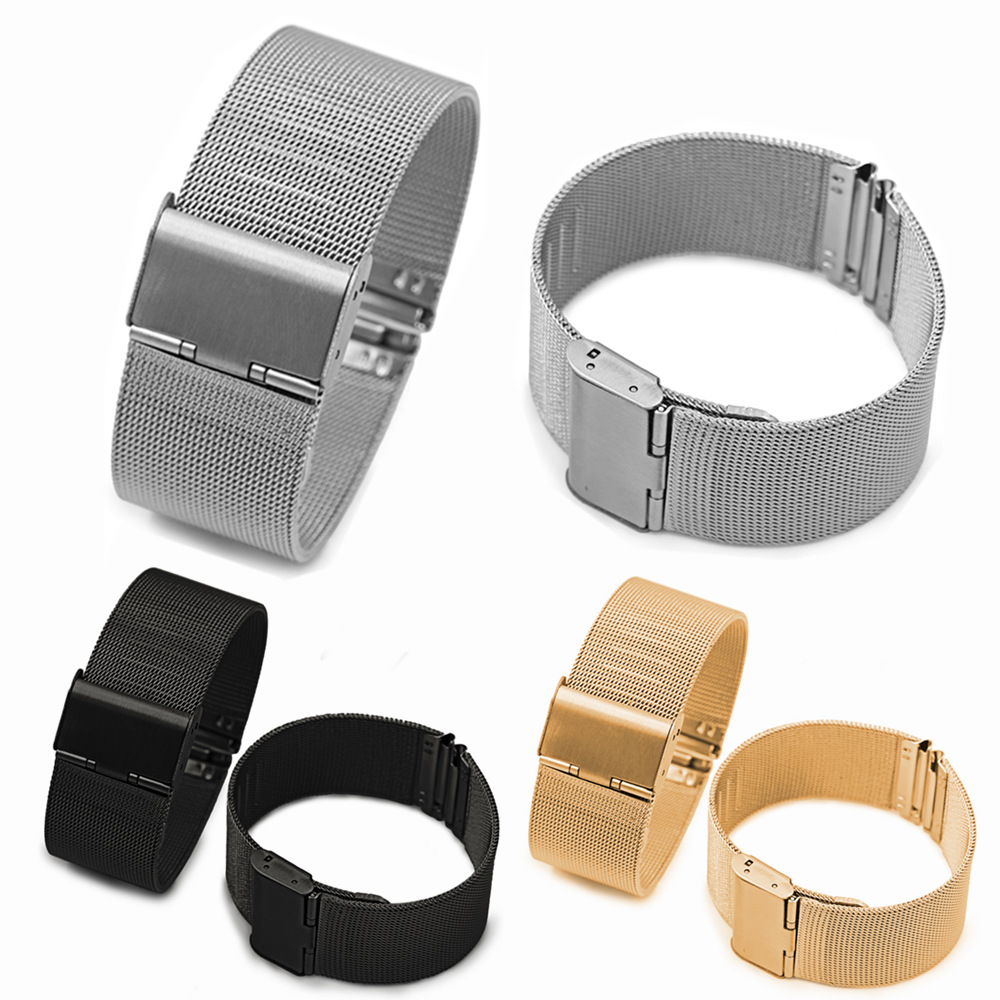 23mm 22mm 20mm 18mm Stainless Steel Smart Watch Band Strap For Huami Amazfit Bip / Stratos / Ftbit Versa / Samsung Galaxy 42mm