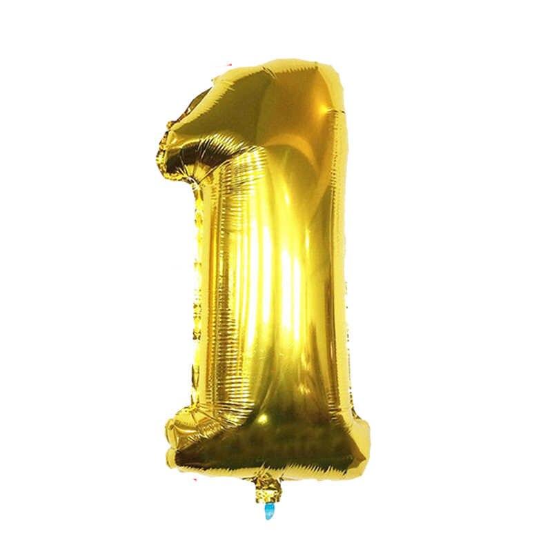 1 pcs bé 1st sinh nhật số bóng đầu tiên hạnh phúc lá sinh nhật bóng màu xanh/hồng/hoa hồng vàng bé sinh nhật đảng trang trí nội thất cậu bé cô gái