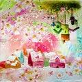 100% Silk Scarf Women Scarf Mini House Neckerchief Scarf Silk Bandana 2017 Top Foulard Small Square Silk Scarf Luxury Lady Gift