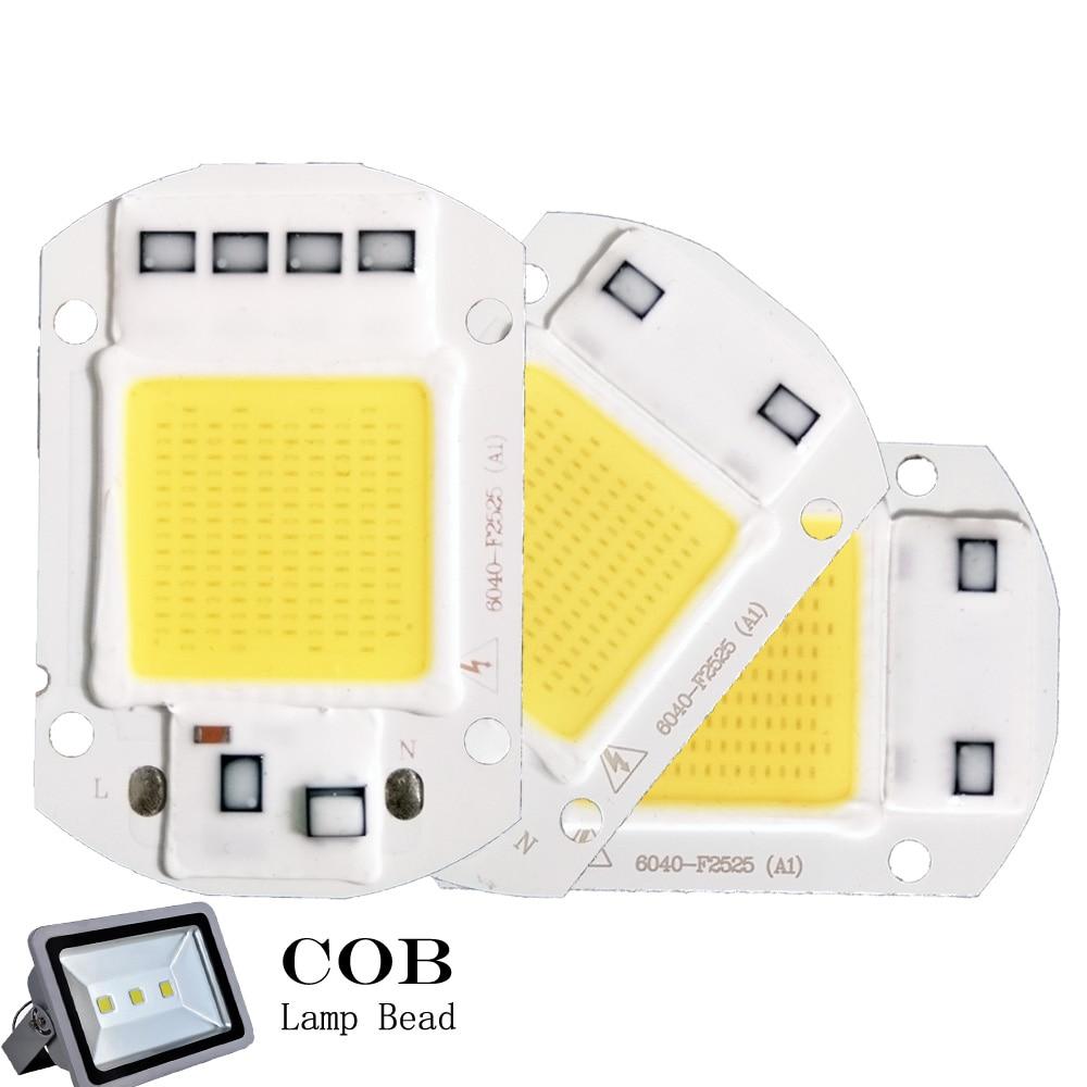 YB Yiba Smart IC LED COB Chip AC 220V 3W 5W 7W 9W 20W 30W 50W LED Lamp Cover Lens Reflects DIY For LED Light Floodlight Bulb