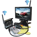 """Wholesale 12-24V Wireless Back-up Reversing Camera System Kit + 7"""" Rear View LCD Monitor For Truck Bus Van Trailer FREE SHIPPING"""
