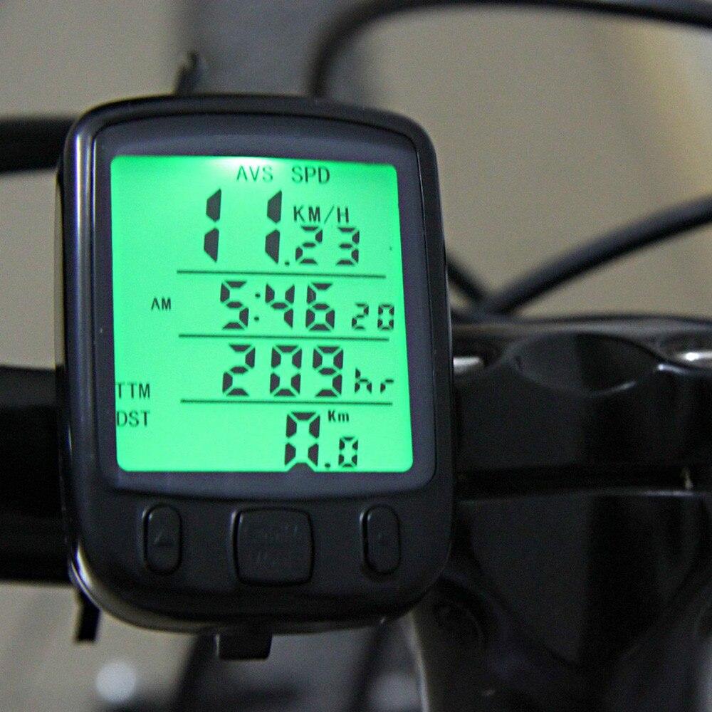 *Digital Speedometer Odometer LED Waterproof Bike Bicycle Cycling Computer Speed Bike Speed Computer Accessories Wholesale/0.75