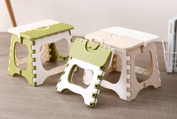 Folding Stool Shoe Bench Small Chair Plastic Bathroom Outdoor Portable Adult Child