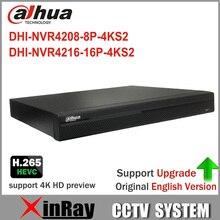 Dahua NVR4208-8P-4KS2 NVR4216-16P-4KS2 с POE Порты и разъёмы 4 К Разрешение H.265 для IP Камера безопасности Системы HDD выбор