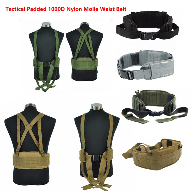 Airsoft huntingTactical gear Padded 1000D Nylon Molle Waist Belt Combat Army Battle mility Cummerbunds For Mens tatico multicam 1