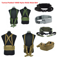 Airsoft huntingTactical gear Padded 1000D Nylon Molle Waist Belt Combat Army Battle mility Cummerbunds For Mens tatico multicam