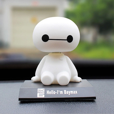 2017 Best Selling Big Hero 6 Baymax Action Figure Car Furnishing Articles Model Holiday Gifts Plastic Toys Ornament 10*7*8.5cm
