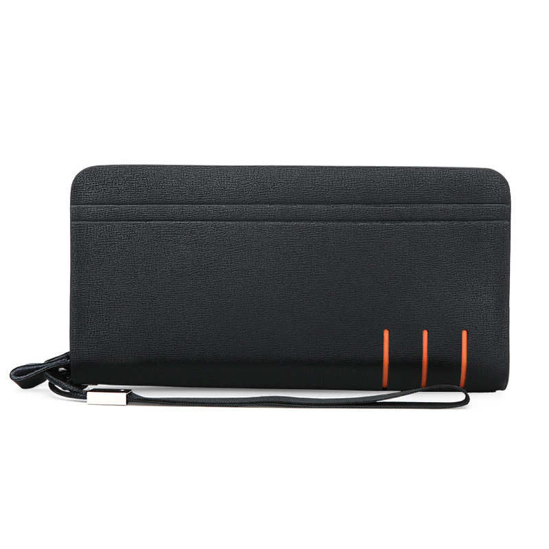 Business Men's Leather Wallets High Quality Double Zipper Purses Clutch Bag Luxury Brand Long Wallets Coin Purse Card Holder luxury brand women wallets business wallet long designer double zipper leather purses id card holder purse phone case clutch