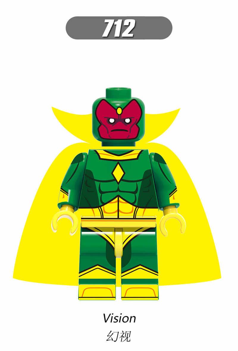 Vingadores Super Heroes Hulk Homem de Ferro Marvel Viúva Negra Doutor Estranho Feiticeira Escarlate Building Blocks Brinquedos Para Crianças