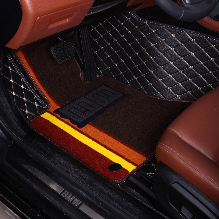 Car floor mats Case for Volkswagen Beetle Eos Golf Jetta Passat Tiguan sharan car styling leather Anti slip carpet liners