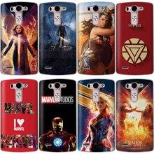 цена на Miracle Case For LG G6 Q6 G3 G4 G5 G7 XPower 2 V30 Q8 K7 K8 K10 2017 Hero Iron Man Captain America Black Widow Spiderman Cover