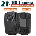 Бесплатная доставка! 2 К HD S60 Тела Личной Безопасности и Полиции Камеры Ночного Видения 6-часовой Записи 128 ГБ Ambarella A7LA50