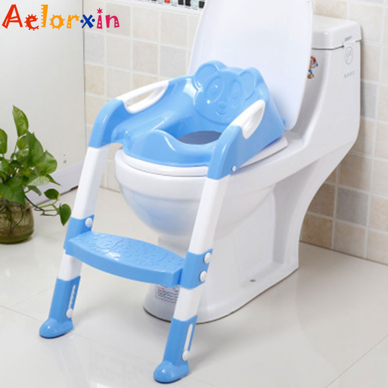 Baby Potty Training Seat Children's Potty Baby Toilet Seat With Adjustable Ladder Infant Toilet Training Folding Seat