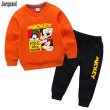 Baby Jongens Kleding Cartoon Minnie Mickey Gedrukt Meisjes Kleding Set Herfst Lange Mouw Sweatshirt Vetement Enfant Fille Trainingspak(China)