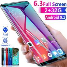 شاشة 6.3 بوصة كبيرة 3800mAh P30 pro 2GB RAM 32GB ROM بصمة الوجه معرف 3G الهاتف الذكي MTK6735 أندرويد 9.1 الهاتف المحمول