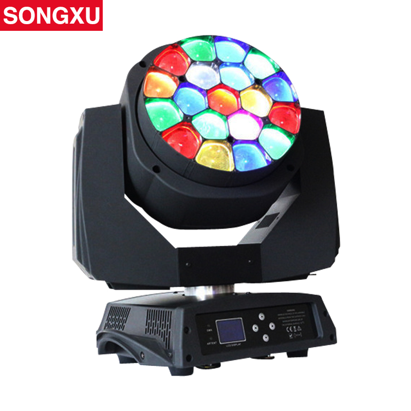 Zoom Function 19x15w RGBW Bees Eyes Big Eyes Moving Head Light Nightclub DJ Party Stage Light