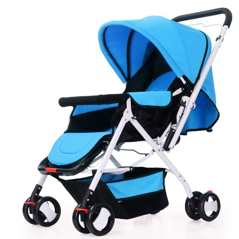 Hot Selling Baby Stroller Multiuse Infant Pushchair 8 Wheels Canopy Storage Basket Pram Travel Safety Pram Carriage