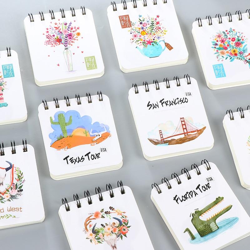 Koreaanse creatieve schrijfbehoeften Student Coil Notepad Notebook - Notitieblokken en schrijfblokken bedrukken