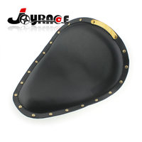 Motorcycle Brass Rivets Synthetic Leather Solo Seat for Harley Chopper Bobber Sportster Custom Seat