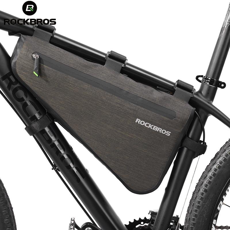 ROCKBROS Bici Della Bicicletta Del Sacchetto Antipioggia Grande Capacità MTB Strada Telaio Triangolo Sacchetto Del Sacchetto Sigillante Impermeabile Del Sacchetto Pannier Accessori
