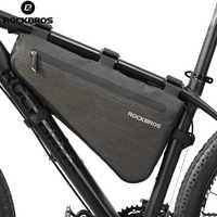 Rockbros bicicleta saco à prova de chuva grande capacidade mtb estrada quadro saco triângulo bolsa à prova dwaterproof água calafetagem pannier acessórios