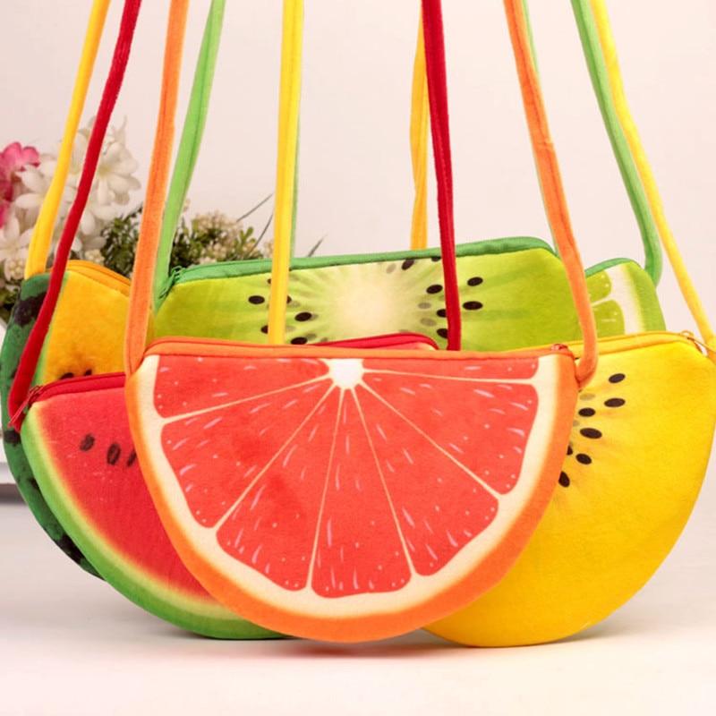 Lovely Children one shoulder bag Kids coin purse cute one shoulder fruit bag girls messenger bag lovely fox children one shoulder bag