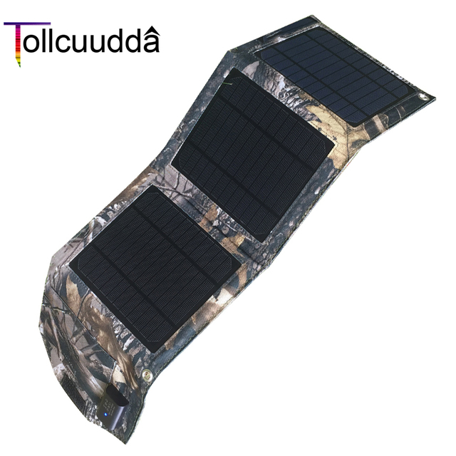 Tollcuudda 8 Вт Солнечный Мощность банка 3 солнечные панели Портативный Зарядное устройство Внешний Батарея Универсальный повербанк 1.3A для всех мобильных телефонов