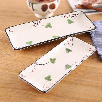 Sushi Piatto Da Tavola Fiocco Di Neve Glassa Di Ceramica Creativa In