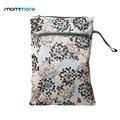 mommore Baby Diaper Bags Printed Double Zippered Wet/Dry Bag Waterproof Wet Cloth Diaper Backpack Reusable Diaper Cover WetBag