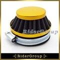 Desempenho de ouro 60mm filtro de ar clearner para bicicleta motorizada de gás push mini moto pocket bike quad 4 rodas da motocicleta atv