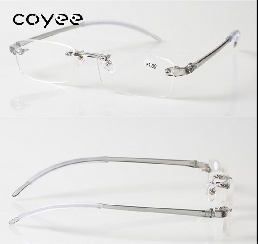 Coyee TR90 Reading Glasses Unisex Rimless Reader +0.5 +0.75 +1 +1.25 +1.5 +1.75 +2 +2.25 +2.5 +2.75 +3 +3.25 +3.5 +3.75+4 ...