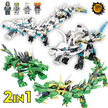 Lloyd Green Dragon Ninja Building Blocks Sets Ball Figures LegoINGLs Bricks Educational Toys for Children