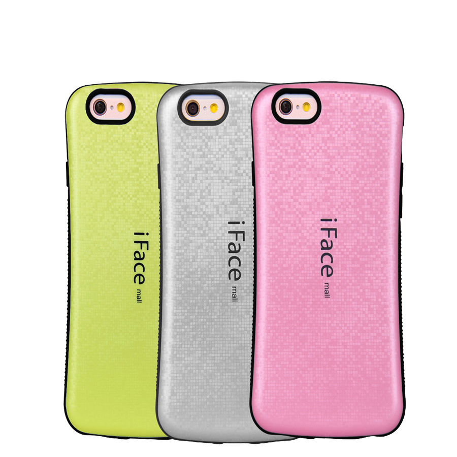 new style 005f3 fd52b US $3.89 |For iPhone 5S Case iface Smooth Hybrid Hard Rubber Cover Case For  iPhone 5 Cover Mosaics Grid Square Phone Cases for iPhone SE on ...