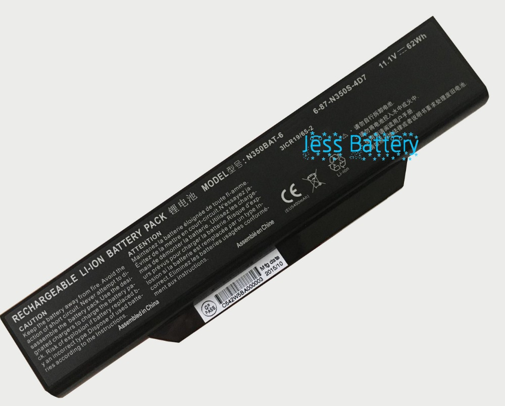 62Wh new laptop battery for CLEVO 6-87-N350S-4D7 6-87-N350S-4D8 N350BAT-6 N350BAT-9 original rechargeable clevo w370bat 8 li ion battery 6 87 w370s 4271 6 87 w37ss 427 k590s laptop battery 14 8v 5200mah 76 96wh