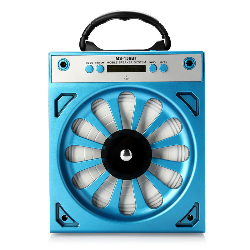 Wireless 3.5mm Wired Connection Speaker Bluetooth Speaker Micro SD / TF Card MP3 Player FM Radio Portable Blue 4 Hours Play Time n74u portable media player speaker magaphone w tf usb fm microphone black