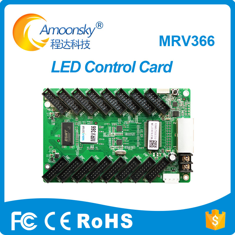 2018 New Led Receiving Card Novastar Mrv366 Support 512*256 For Led Screen With 16 Hub75 Port