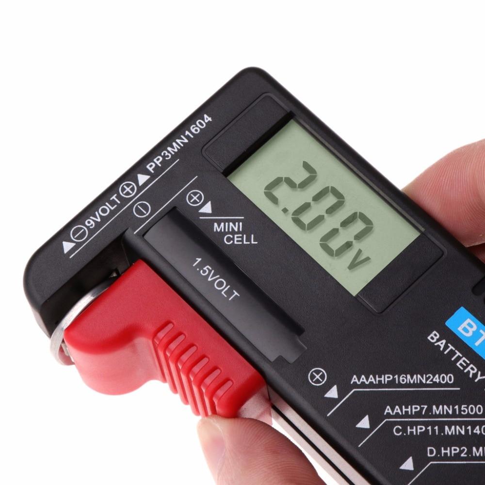Купить с кэшбэком BT168D Digital Battery Capacity Tester Smart Electronic Power Indicator Measure for 9V 1.5V AA AAA Cell C D Battery