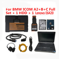 OBD2 Icom For BMW Interface ICOM A2 B C with Lenovo E6420 Full Set Cable Car Scanner with ISTA Software 500GB HDD Replace