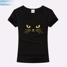 Women T Shirt 2017 Summer Style T-Shirt Print Black Cat O-Neck Short Sleeve Cotton Slim Kawaii Tee Tops Dresses For Girls Parka