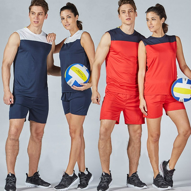 Free Shipping 2017 New Couple Style Sport Suit Voleibol