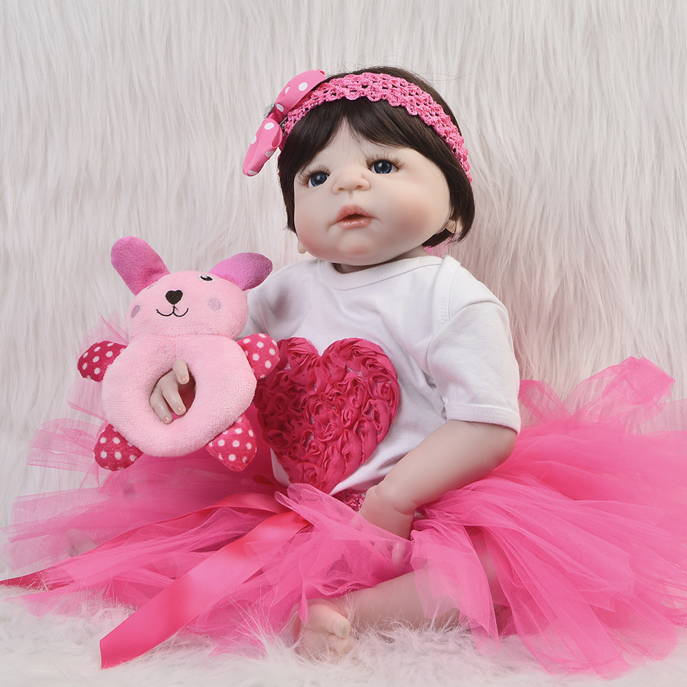 2018 Hot 23 Reborn Baby Doll So Truly Full Silicone Vinyl Body Lifelike Babies Toys Newborn Dolls For Girl Gifts kids Playmates 23 russian silicone reborn baby girl full body vinyl dolls touch real baby dolls lifelike real hair new 2017 kids playmates