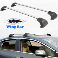 2x Universal Adjustable 120cm Car Roof Rock Cross Bar With Lock Luggage Luggage Carrier System 150LBS