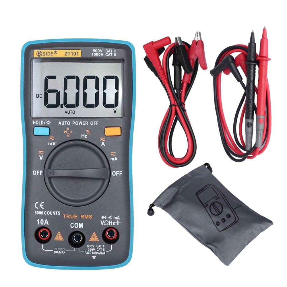 BSIDE Ture RMS Multimètre Numérique ZT101 Multifonction AC/DC Tension Courant Résistance Capacité Fréquence Testeur