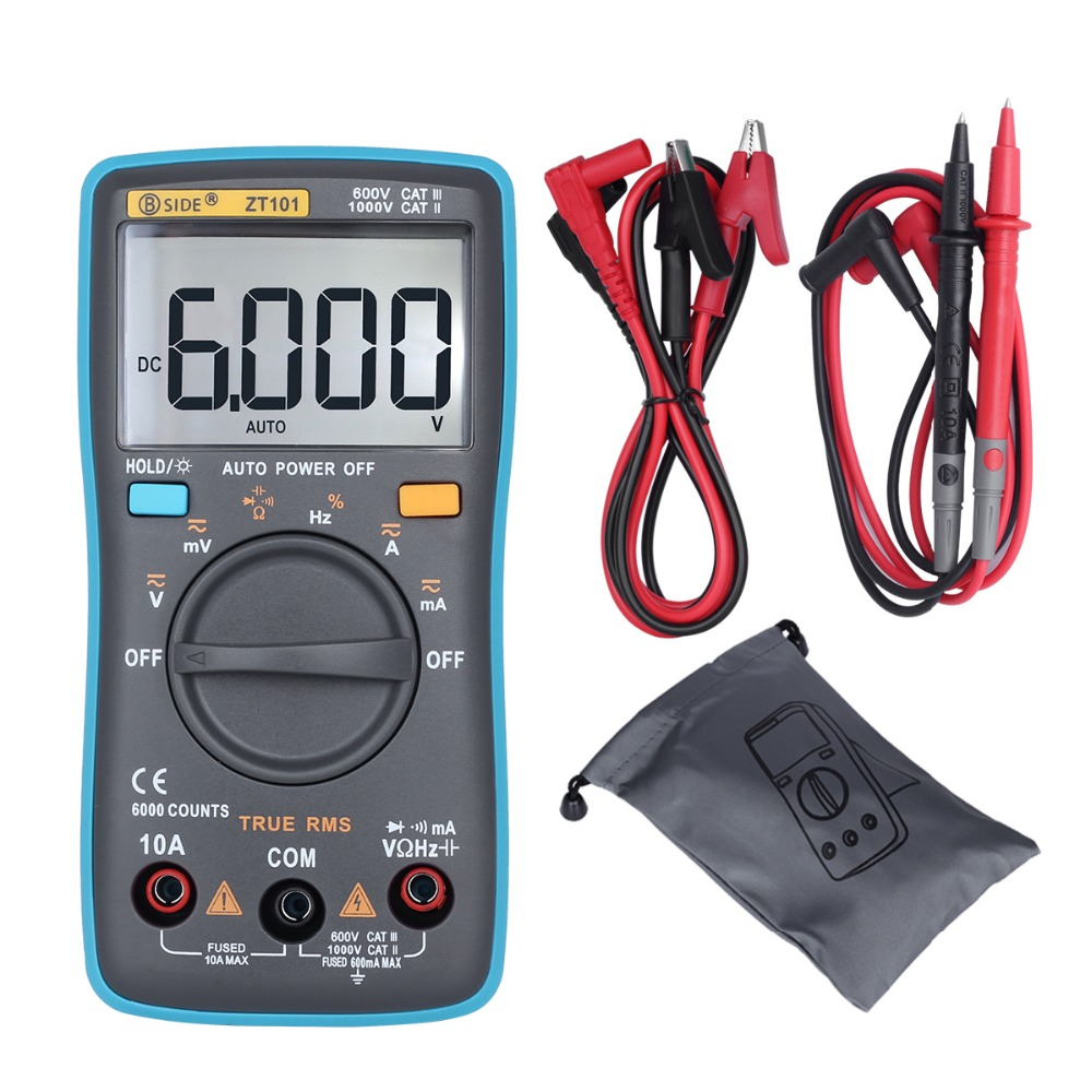 Offizielle BSIDE Ture RMS Digital Multimeter ZT101 Multifunktions AC/DC Spannung strom Widerstand Kapazität Tester RM101