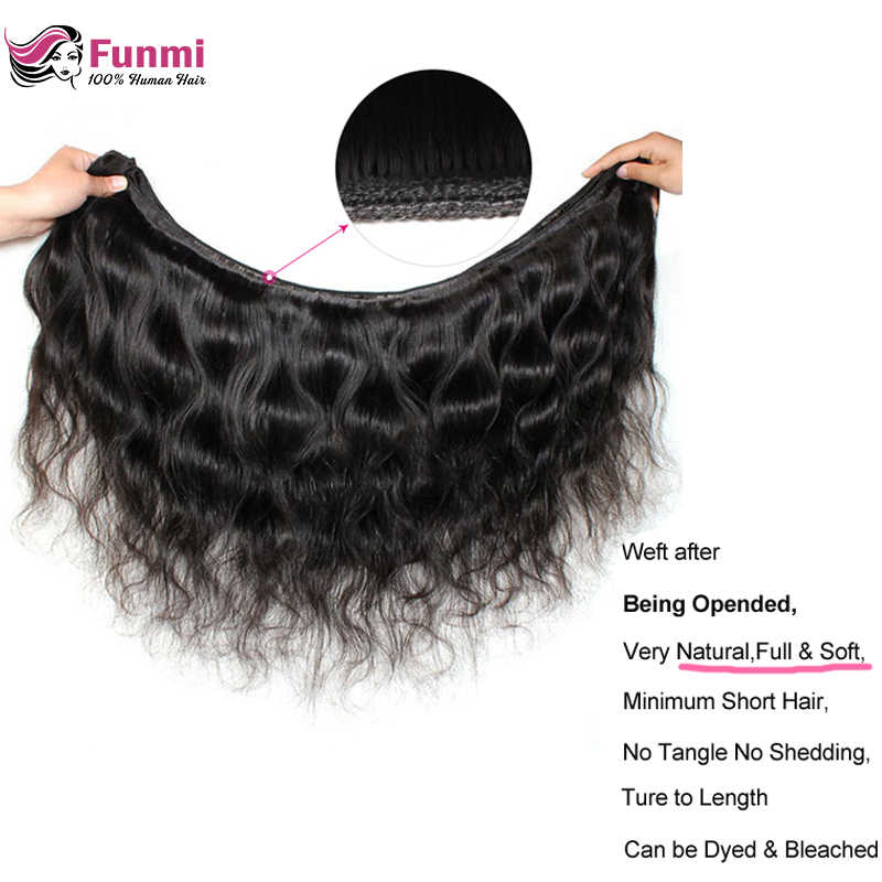 Brazilian Body Wave Bundles with Frontal Unprocessed Virgin Hair Bundles with Frontal Closure 3 Bundles Funmi Hair with Closure