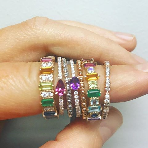cz band ring for women colorful cubic zirconia 2019 new arrived trendy modern women lady finger jewelry 6 7 8