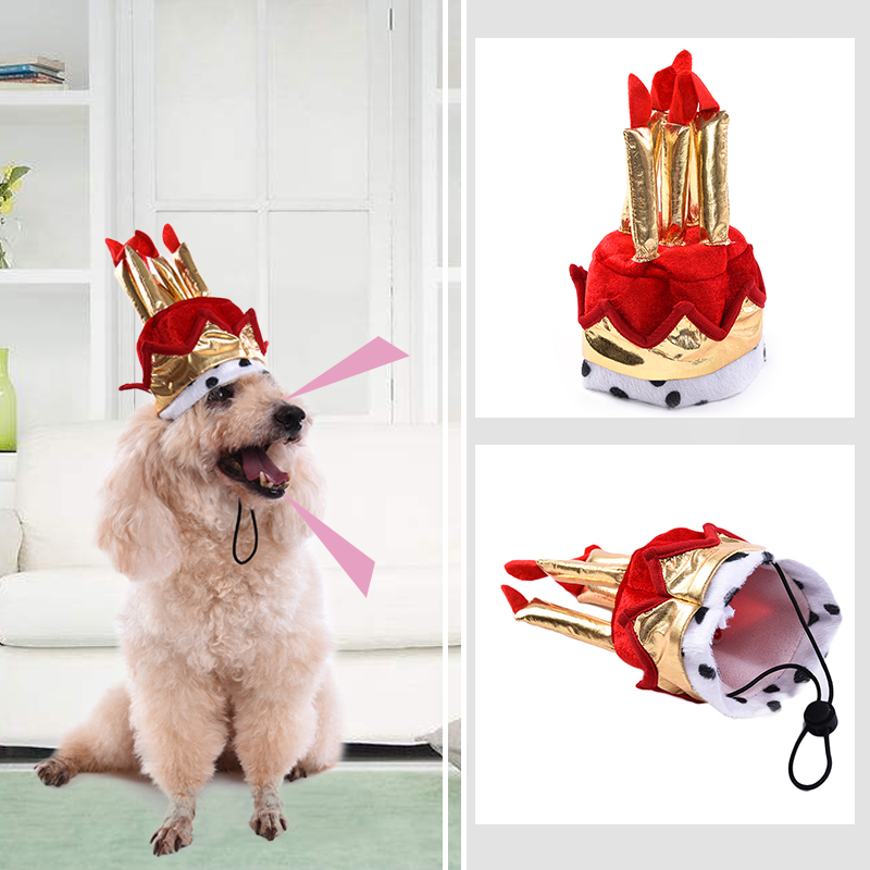 Red Pet Birthday Hat Dog Party Supplies Cake Model For Male 2017