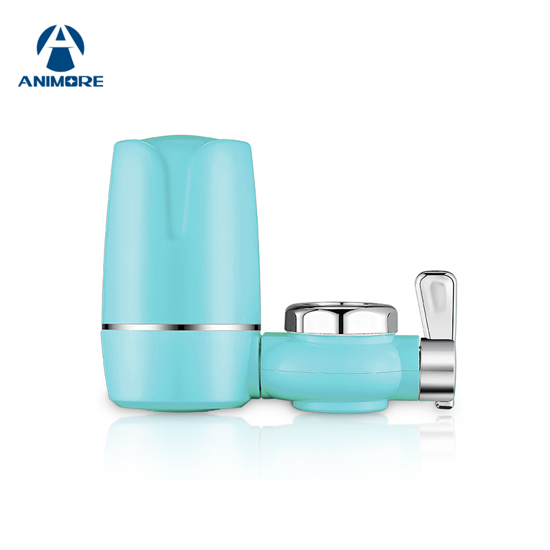 ANIMORE Kitchen Tap Water Purifier Faucet Washable Ceramic Water Filter Mini Water Purification Rust Bacteria Removal FW-01 kitchen faucets tap water filter household water purifier washable ceramic percolator mini water purification