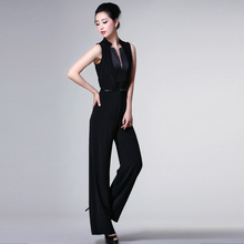 2017 Spring and Summer long jumpsuits European stand collar womens fashion with belt NW13B0134