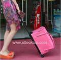 Trolley case professional cosmetics bag fashion PU hard case makeup box 5colors double open women make-up handbag Christmas gift